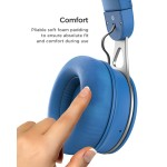 Bluetooth headphones with Lightning Connector On Ear Wired Bluetooth Blue