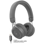 Bluetooth headphones with Lightning Connector On Ear Wired Bluetooth Grey