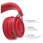 Bluetooth headphones with Lightning Connector On Ear Wired Bluetooth Red