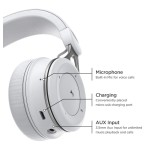 Bluetooth headphones with Lightning Connector On Ear Wired Bluetooth White