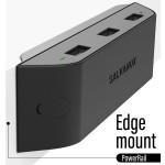 Fast Charge USB Multi Port Desktop Power Rail 36W Fast Charge 3 USB A Ports Black