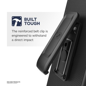 Galaxy S10 Rebel Case And Holster Black