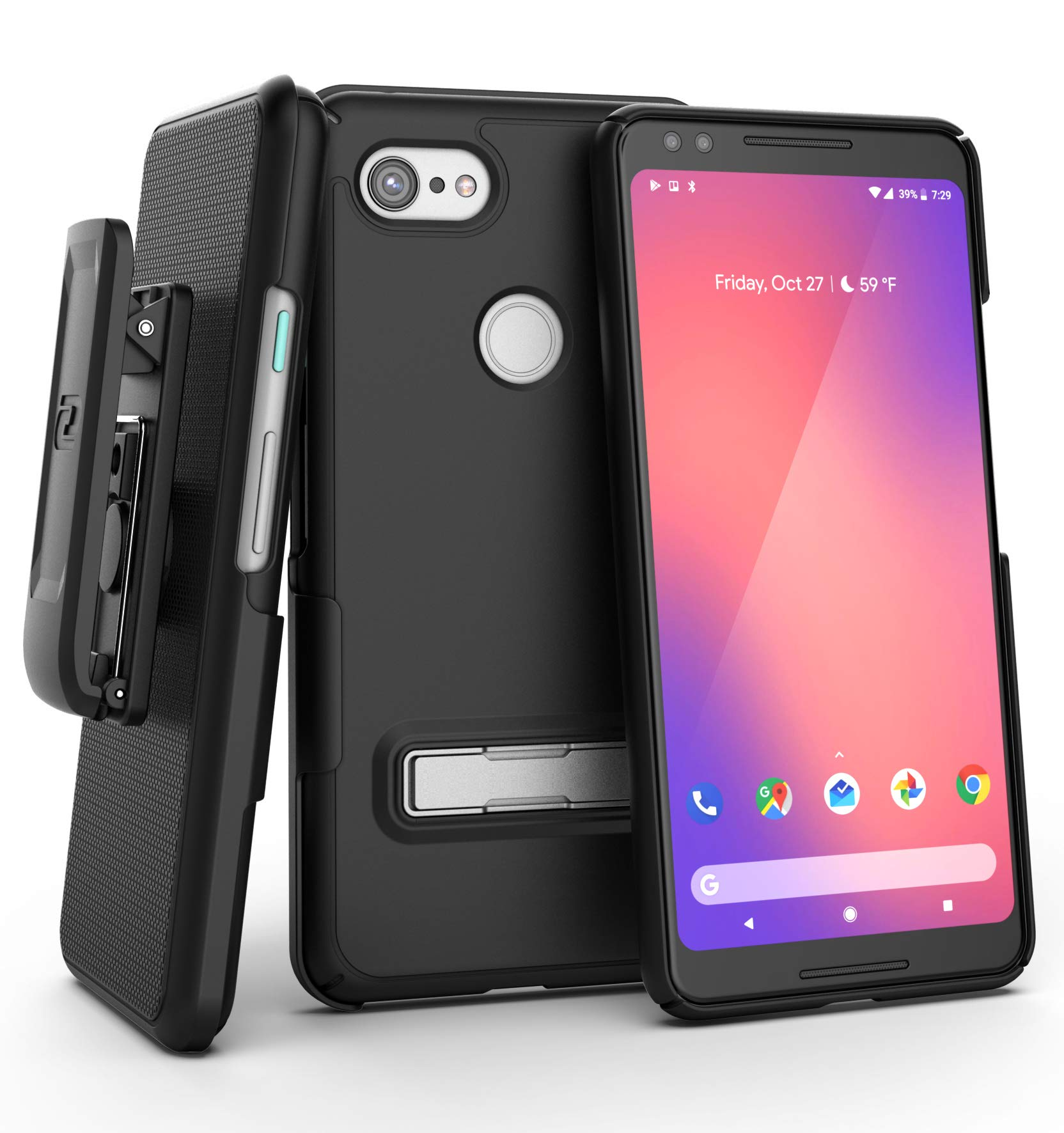 online retailer d1fe3 17b8d Google Pixel 3 Slimline Case and Holster Black