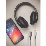 Headphone Cable With Remote Grey