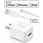 Galvanox 10W USB-A Wall Charger with 5ft USB-A to Lightning Cable (White)