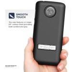 Moto G6 Slimline Case And Holster Black