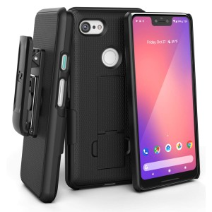 Pixel 3 XL Duraclip Case And Holster Black