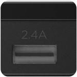 USB Multi Port Desktop Power Rail 24W with 3 USB A Ports in Black