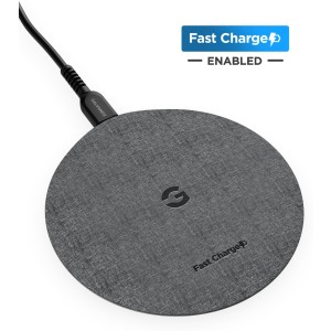 Encased Galaxy Note 10 Plus/ S9 / S8 / S10 /S20 Plus / S20 Ultra Charger Quick Charge 3.0 Wireless Pad - Fast Charging Qi Enabled (Case Compatible Non-Slip Design) (Matte Black)