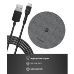 Encased Ultra Charger Quick Charge 3.0 Wireless Pad - Fast Charging Qi Enabled (Case Compatible Non-Slip Design) (Matte Black)