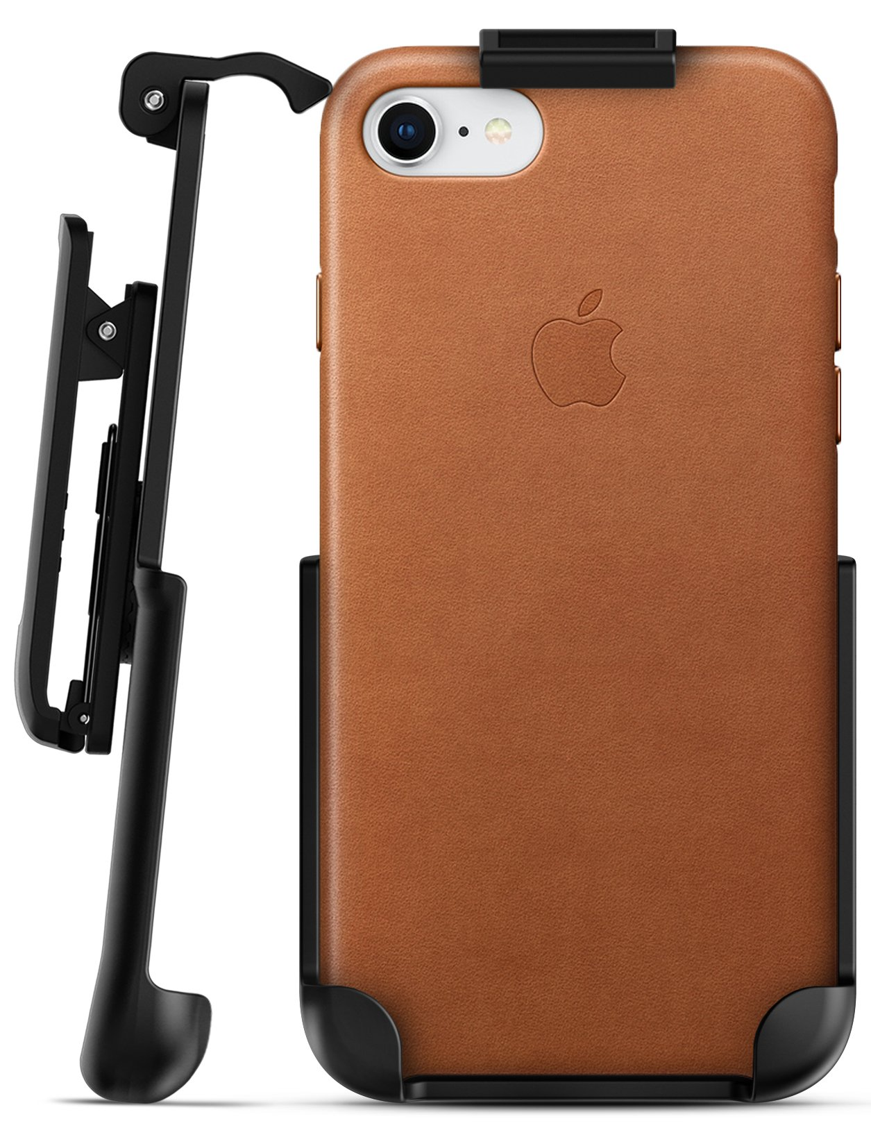 new products 4ea39 aad90 iPhone 8 Apple Leather Holster Black
