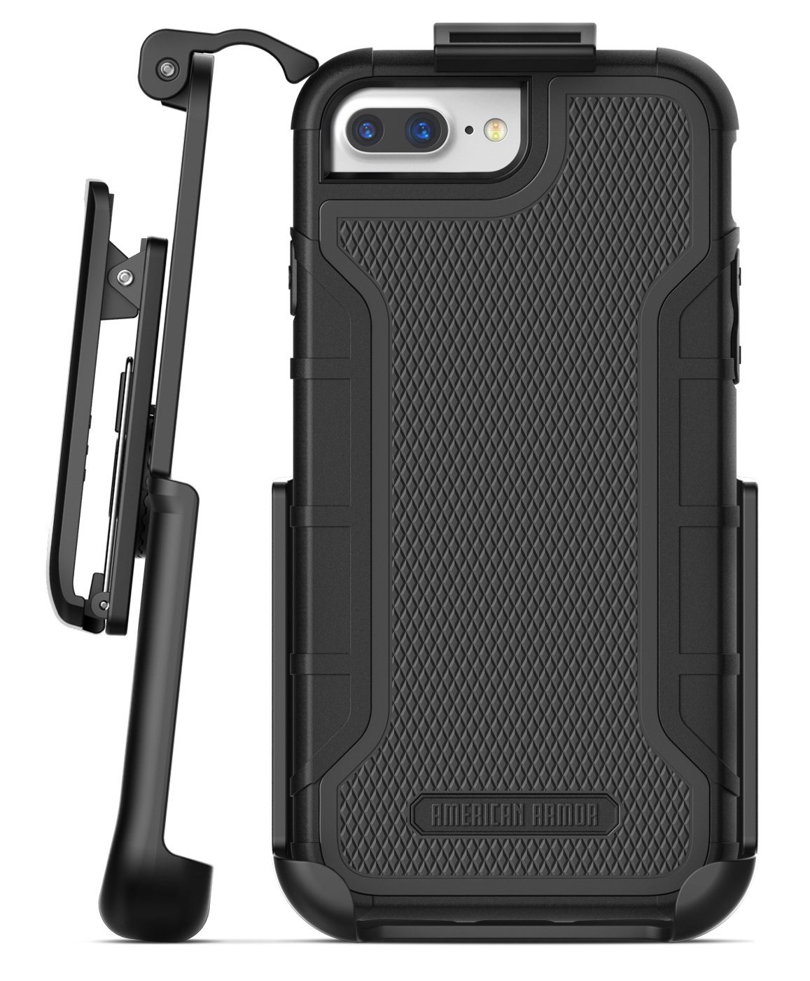 on sale 6bf5c 299fb iPhone 8 Plus American Armor Case And Holster Black