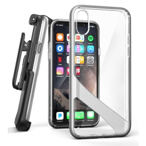 iPhone X Reveal Case And Holster Silver