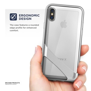 iPhone X Reveal Case Silver