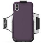 iPhone X Slimshield Armband Purple