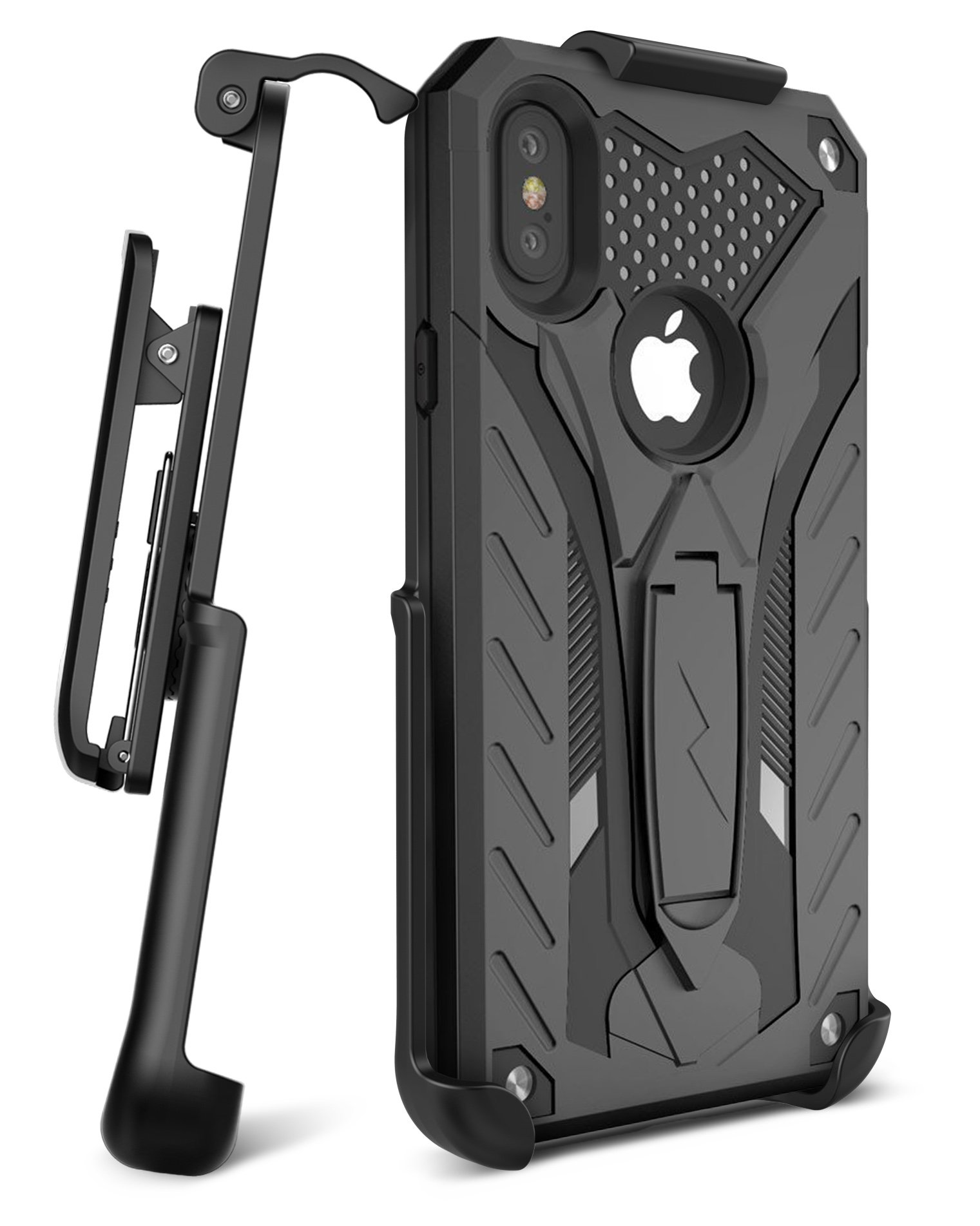 pretty nice 087bb f044d iPhone X Zizo Static Holster Black
