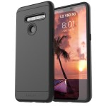 LG V50 ThinQ Thin Armor Case and Holster Black