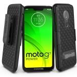 Moto G7 Power Slimline Case and Holster Black