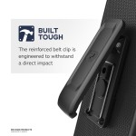 Moto Z4 Thin Armor Case and Holster Black