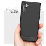 Galaxy Note 10 Thin Armor - Black Case with Holster
