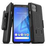 Pixel 4 Duraclip Case and Holster Black