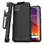 Pixel 4 Thin Armor Case and Holster Black