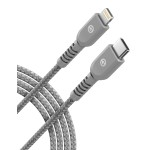 Lightning to USB C Braided Cable 1FT Gray