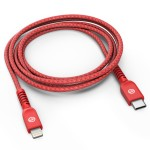 Lightning to USB C Braided Cable 6 Ft Red