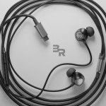 USB Type C Earphones 4Ft Cord In Ear Wired Mic Volume Control Remote Black