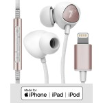 Braided iPhone Lightning Earbuds (Sweat/Water Resistant) with Mic/Volume Remote Gold