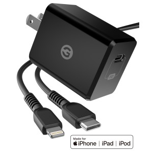 MFi Apple Certified USB C to Lightning Charger Black