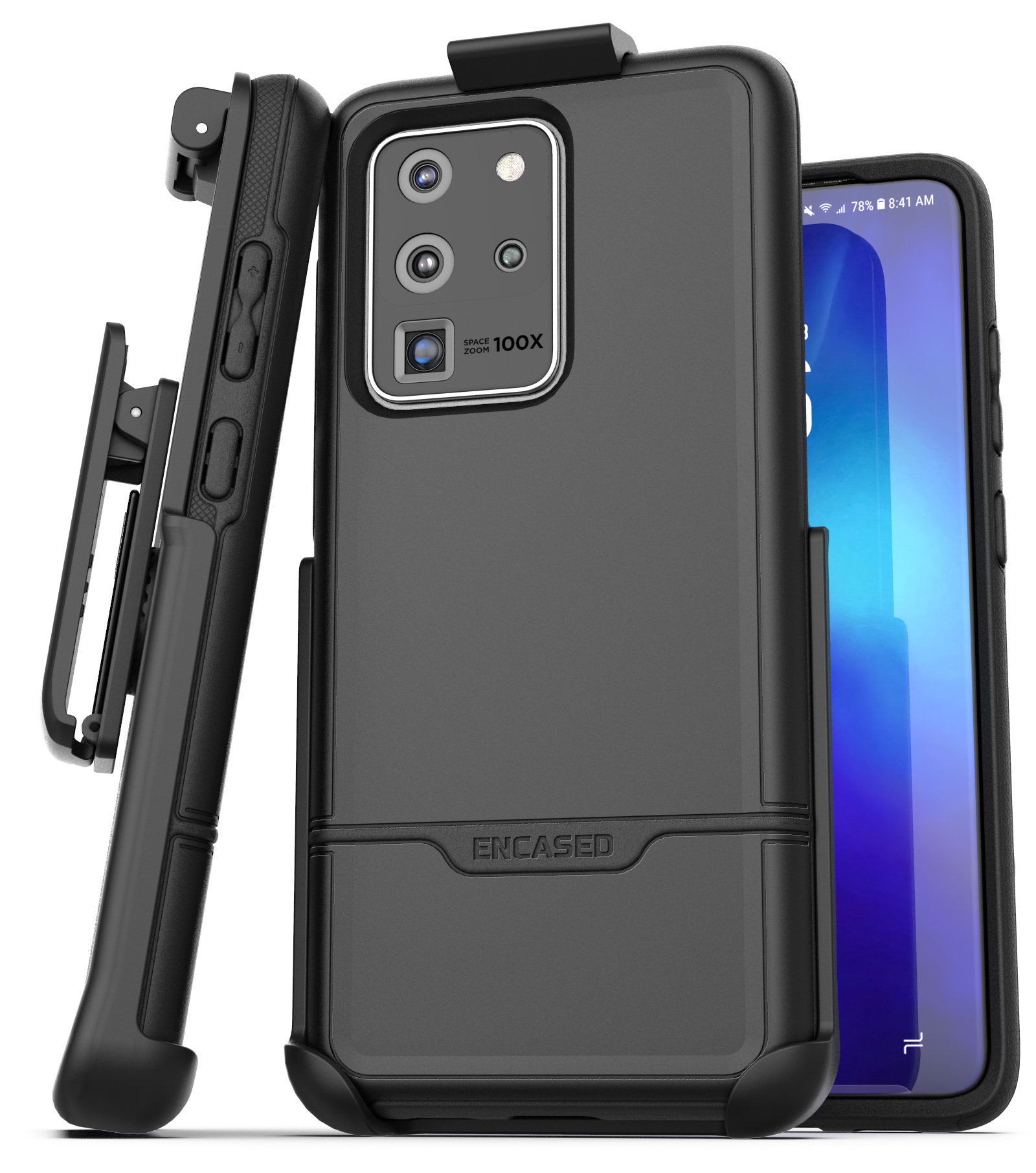 Galaxy S20 Ultra Rebel Case And Holster Black