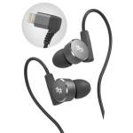 iPhone Earbuds Apple Certified Lightning Earphones Workout In Ear Headphones Black (V180)