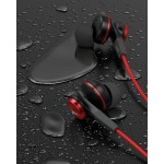 Wired Earphones for iPhone Headphone Apple Certified In Ear Lightning Earbuds Red (V120)