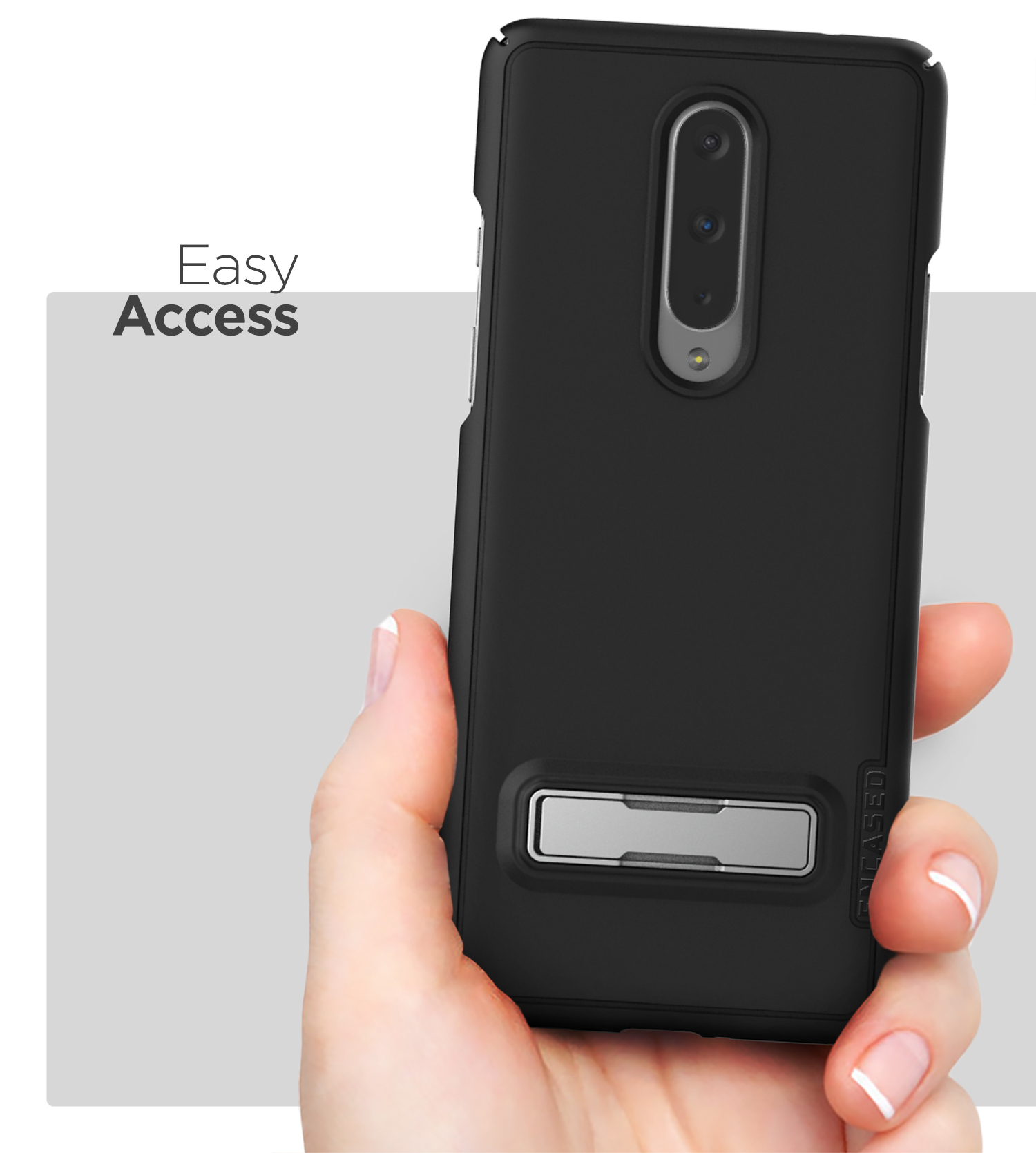 Slim Grip Cover with Holster Black Encased Belt Clip Case for OnePlus 8 Pro Thin Armor