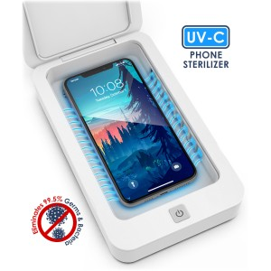 Steliron UV Phone Sanitizer, Portable UV Light Cell Phone Sanitizer to Kill Germs, Bacteria & Viruses with USB Charger for iPhone & Android