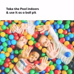 """Inflatable Pool, Above Ground Swimming Pool (120"""" X 72"""" X 22"""") Dark Blue"""