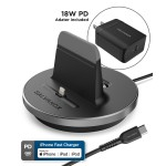 Galvanox PD Fast Charging MFi Lightning to USB-C Charging Stand for iPhone with Charging Cable