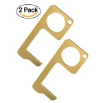 Encased Clean Key Door Opener Tool - Brass No Touch Anti-Microbial Germ Key (2 Pack)
