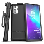 Galaxy Note 20 Ultra Rebel Case and Holster Black
