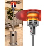 Rangland Propane Patio Heater - Hammered Silver (20lb)