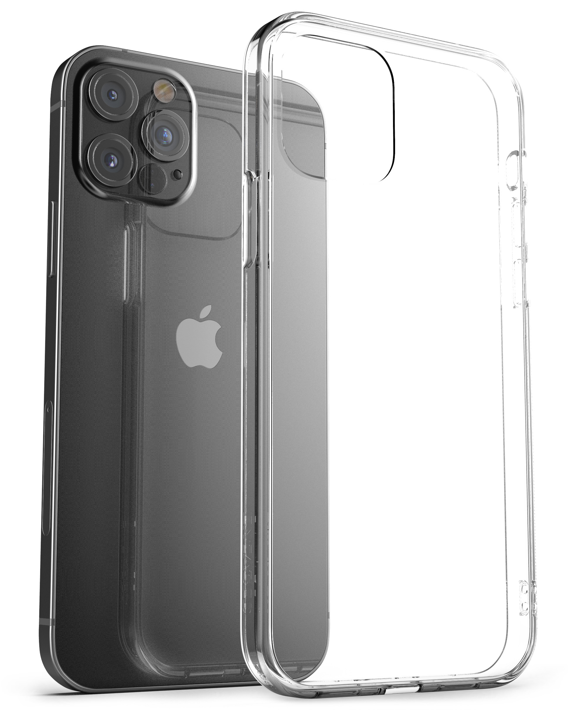 iPhone 12 Pro Max Clear back Case And Holster Clear - Encased