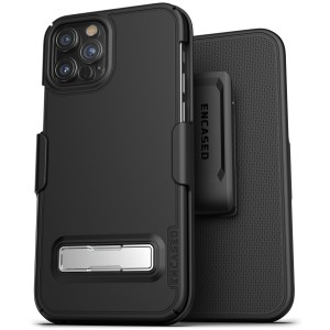 iPhone 12 Pro Max Slimline Case And Holster Black - Encased