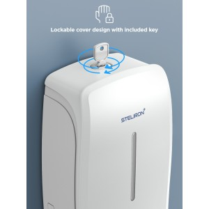 Steliron Automatic Hand Sanitizer Dispenser Wall Mounted, 34oz Touchless/Hands Free Dispenser Station for Sanitizing Gel