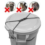Rangland Animal-Proof Trash Can Lock - Black (for 30-50 gallon trash cans)