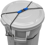 Rangland Animal-Proof Trash Can Lock - Blue (for 50-96 gallon trash cans)