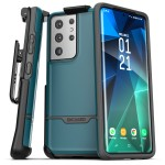 Galaxy S21 Ultra Rebel Case and Holster Blue