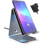 Galvanox Wireless Qi Fast Charging Stand with Wall Adapter