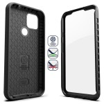 Pixel 4a 5G Case with Screen Protector (Rebel Shield)Black