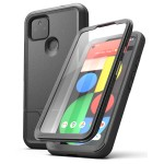 Pixel 5 5G Case with Screen Protector (Rebel Shield)Black